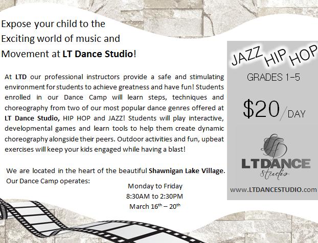 march break camp shawnigan lake lt dance studio