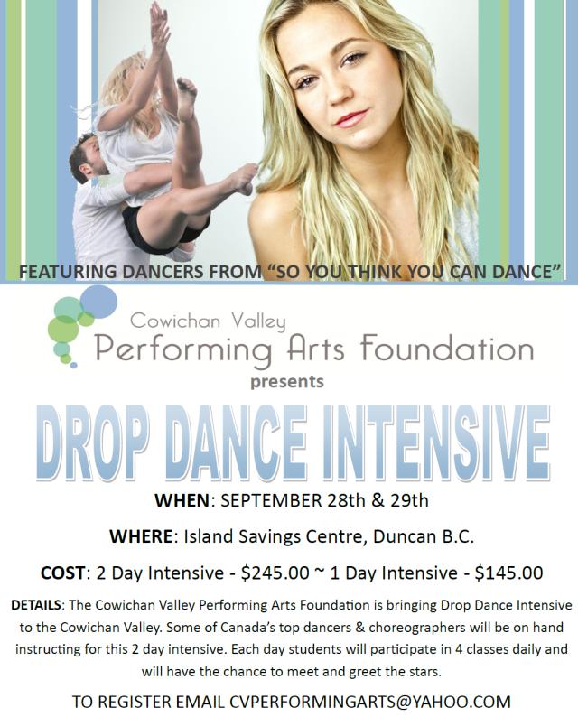 drop dance instensive vancouver island