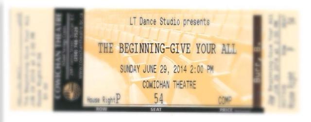 the beginning give your all lt dance studio recital